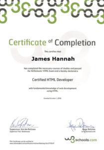 HTML Certification